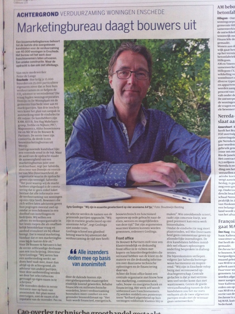 Cobouw Enschede-web, de Bouwer