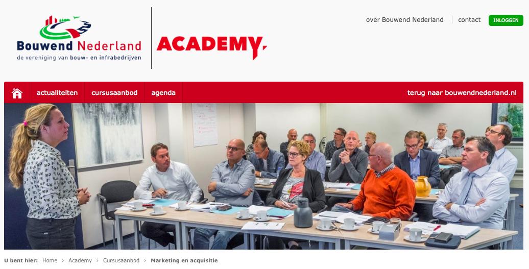 Bouwend Nederland academy