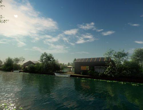 26 Tiny houses op eilandjes in de Vinkeveense Plassen